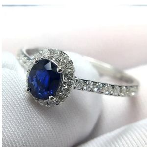 Sterling Silver Genuine Sapphire Ring!